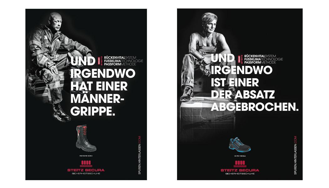 STEITZ SECURA-Werbeanzeigen Grafik Design